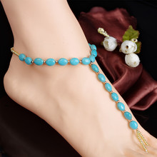 Scolour Fashion Anklet Boho Beads Anklets Bracelet Foot Chain Beach Jewelry 1PC(China)