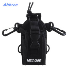MSC-20E Portable Walkie Talkie Nylon Case Cover Handsfree Holder for Baofeng TYT Woxun Motorola Icom Radio