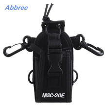 MSC-20E Portable Walkie Talkie Nylon Case Cover Handsfree Holder for Baofeng TYT Woxun Motorola Icom Radio(China)