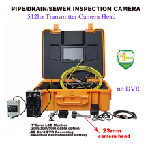 Pipe Locator 512hz Transmitter Pipe Drain Sewage Inspection Camera System 20m Cable 7inch LCD Monitor Snake Borescope Endoscope(China)
