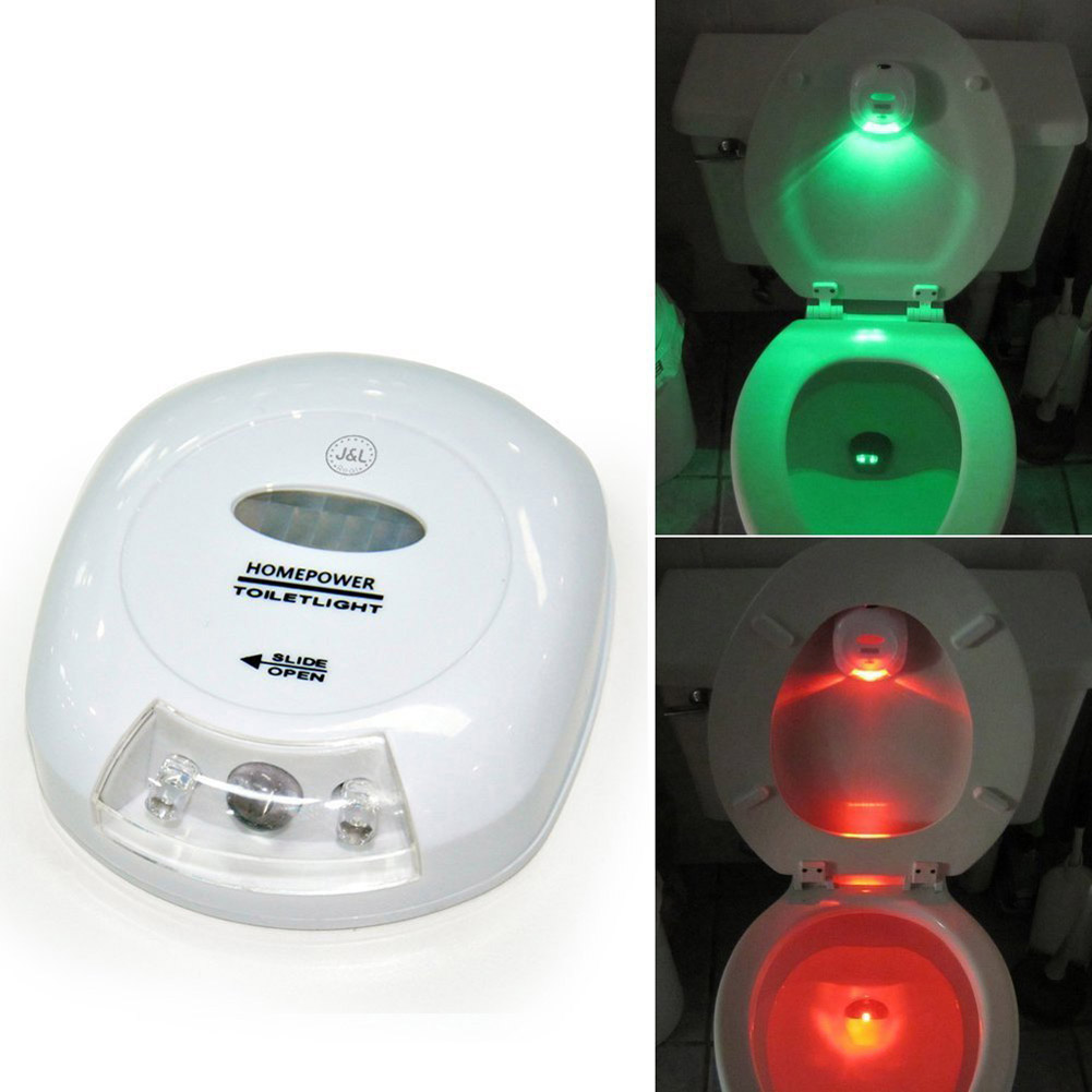 LED Energy Saving Toilet Seat Night Light PIR Auto-sensing Body Motion Activated Bathroom Lamp Green Red Light