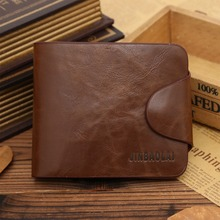 2016 fashion new stylish Mens genuine cow Leather Wallet Pockets Card Clutch Cente Bifold Purse,drop shipping WMB106