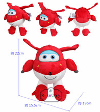 "2016 New Arrival Super Wings Jett Plush Toy Soft Cotton Stuffed Dolls 8.5"" 22 CM birthday Gifts For Children(China)"