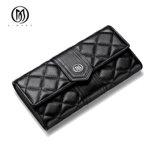EIMORE Desinger 2017 New Women Wallets Genuine Leather High Quality Long Clutch Cowhide Wallet High Quality Female Purse(China)