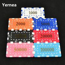 10pcs/Lot Special Square Type Large Square Chip Set Currency Hold'em With Custom Mahjong ABS Chips 35g Poker Chips Yernea