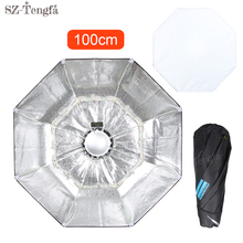 100cm Silver Collapsible Beauty Dish Octagon Softbox Bowens Mount for Bowens godox studio flash(China)