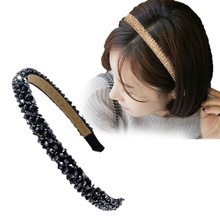 Aikelina Fashion Shining Crystal Modern Style Headband Hairbands for Girls Headwear Hair Accessories for Women Girl(China)