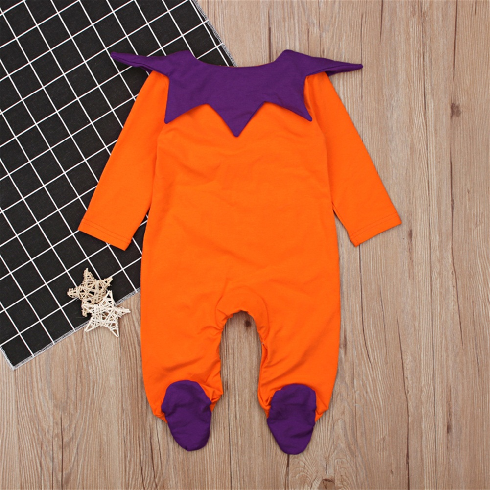 Halloween Kids Baby Girl Boy Clothing Romper Long Sleeve Pumpkin Jumpsuit Autumn Party Clothes Baby Boys 0-24M