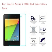 Ultra Thin Tablet Tempered Glass For Google Nexus 7 2013 2nd Generation Screen Protector Film 2pcs in 1 package