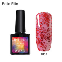 10ml Easy DIY Nail Art UV Nail Gel Polish Bling Varnish Gel Color LED drying Lacquer permanent fingernail polish soak of gel(China)