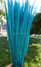 Wholesale 50 / lot 20-22inches / 50-55cm perfectly beautiful Light Blue pheasant feather / DIY jewelry decoration(China)