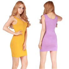 2017 New Summer Girl Tank Dress Vestidos Simple Design Solid Color Sexy Bandage Bodycon Mini Dresses One Size HO858597