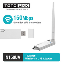 TOTOLINK N150UA 150Mbps USB WiFi Adapter, USB WiFi Card with WPS button for Easy Connection & 1*4dBi Detachable Antenna(China)