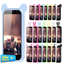 Flora Cartoon Animals Ears For Highscreen power five/zera U /Alcatel pop 4 /Archos 50 power Universal Silicone Bumper Small Size
