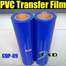 CDP-09 BLUE PVC heat transfer With Roll size: 50CMX25M/Roll BY FREE SHIPPING, BLUE PVC TRANSFER FILM