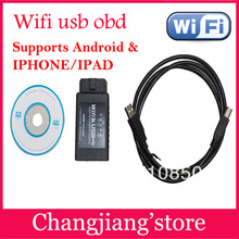BIG discount+DHL Free shipping ! WIFI327 USB OBD2 ELM 327 Scan Tool WIFI WLAN Wireless OBD2 /OBDII for iPhone / Ipad /Ipod Touch