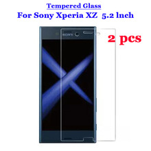 2 Pcs/Lot For Sony XZ Tempered Glass 9H 2.5D Premium Screen Protector Film For Sony Xperia XZ F8331 Dual F8332 5.2""
