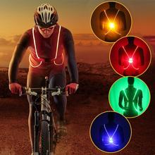 Buy Illuminated Reflective Vest Belt 3 Modes LED Lights Adjustable Safety Gear Sports Night Running Cycling Vest Child Men Women for $11.14 in AliExpress store
