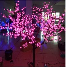 Free ship 6.5ft LED Tree Outdoor Pathway Garden Display Holiday party wedding Christmas Light Decor 864 LEDs Pink IP65