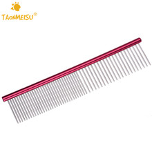 Stainless Steel Lightweight Dog Combs Long Thick Hair Fur Removal Brush Pets Dog Cat Grooming Combs(China)