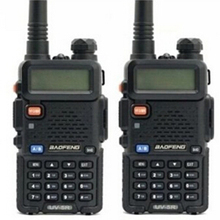Cheap BEST Portable 2 pcs Walkie Talkie Radio Station Baofeng For Two Way Dual Band Vhf Uhf Mobile ham Radio uv5r BAOFENG UV-5R