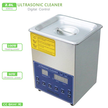2L Digital Ultrasonic Cleaner Double Frequency 80W PS-10AD 28/40KHz Stainless Steel Ultrasonic Washing Unit+washing basket