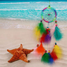 Net With feathers Wind Chimes Hanging Carft Gift For Home Decoration DecorIndia Style Handmade Dream Catcher