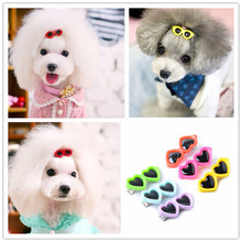 New 1 pc Pet Dog Bows dog accessories Love Glasses Design Pet Dog Hair Bows pet Grooming Products Cute Gift(China)