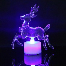 7-Color Changing Christmas Reindeer LED Night Light Lamp Xmas Party Decoration W315(China)