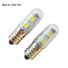 1x Mini E14 LED Lamps 5050 SMD 1W Crystal Chandelier 220V Spotlight Corn Bulbs Pendant Fridge Refrigerator Light(China)