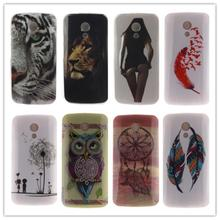 For Motorola G2 Case Owl Tiger Printing Soft Silicone TPU Back Cover for Motorola G2 Phone Protective Cases
