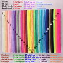 Wholesale 100pcs/lot kids Elastic headbands for girls Foe fold over Shimmer Satin hair Accessory hai band Freeshipping