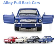 High simulation toy vintage car,1:32 alloy car models, pull back & Mustang car metal diecasts toy vehicles, free shipping