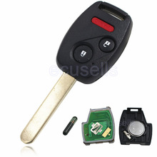 New Replacement Remote Key Fob 2+1 Button 313.8MHz 8E Chip for Honda Accord Fit for Odyssey with Logo