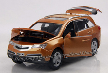 1:32 Scale Alloy Diecast Metal Car Model For HONDA Acura MDX Collection Model Pull Back Toys Car With Sound&Light-Red/Black/Gold