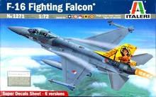 Italeri 1:72 Aircraft No 1271 F-16a/b Fighting Falcon Model Kit
