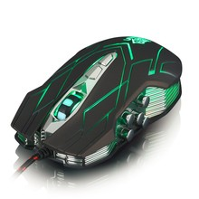 New Hot X9 LED USB Wired Optical Game Mouse Adjustable 3200 DPI PC Laptop 10 Buttons promotion