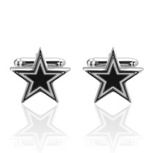 C-MAN Jewelry Five-pointed star Cufflinks for Mens High Quality Brand Enamel Animal Cufflink mosaic Crystal 2017 Newest Hot