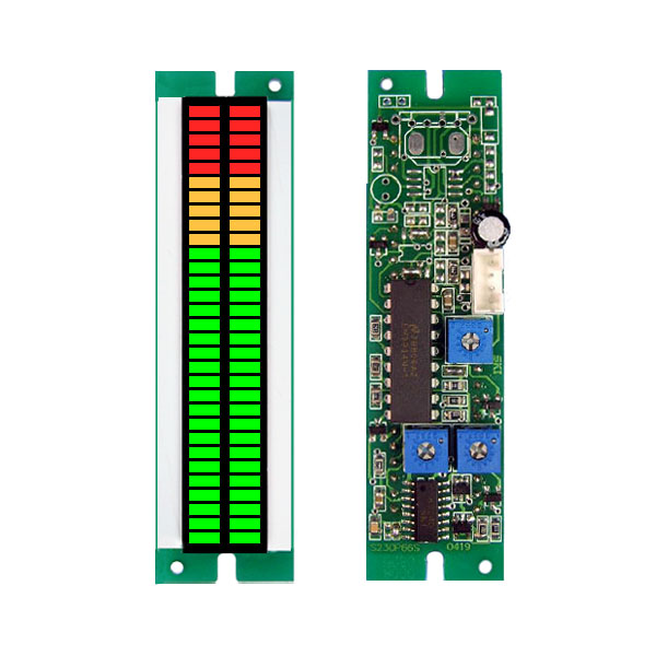 30 Section 66mmLED Double Beam Display Meter Module for Measuring and Displaying DC Voltage<br>