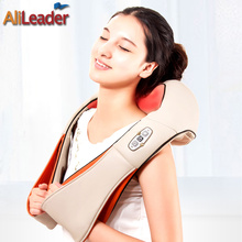 Relief Back Pain Massage Machine Portable Electric Massager Pillow 4D Shiatsu Kneading Neck Shoulder Back Foot Massage Tools