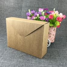 12PCS 20*15*6cm Brown Kraft Box Packaging Boxes for Soap Jewelry Boxes and Packaging Carton box