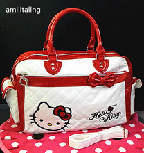 New Hello kitty Large Handbag purse Travel Tote Bag yey-2013A(China)