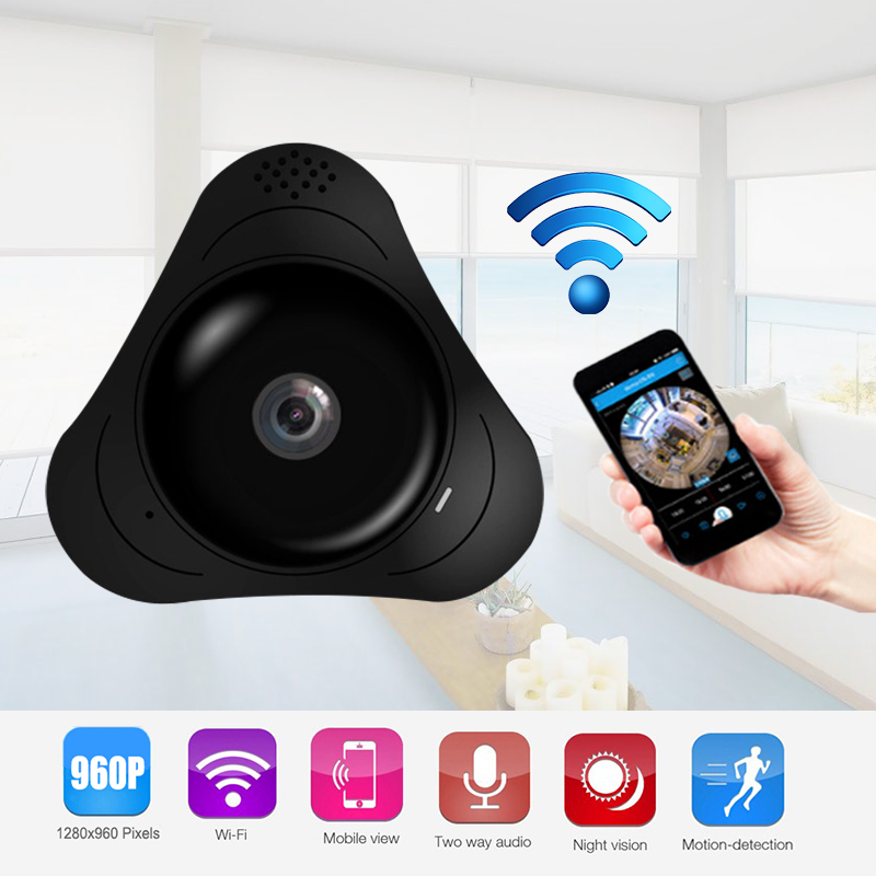 Howell  VR camera Wireless HD 960P IP Camera Wifi Panoramic Security with IR Night Vision 2-way Audio for Home Store office <br>