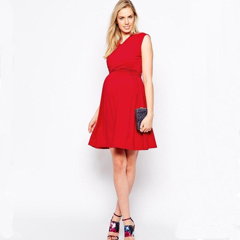 95% Tencel Sleeveless Clothes Nursing Sashes Maternity Dresses Breast Feeding Dress for Pregnant Women Lady Business Dress<br>