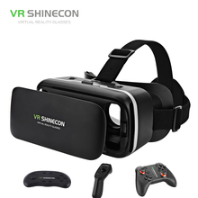 VR SHINECON 3D Box 6.0 Virtual Reality Glasses VR Box Helmet Realidade Virtual With Gamepad For 4.7-6 inch Android Phone