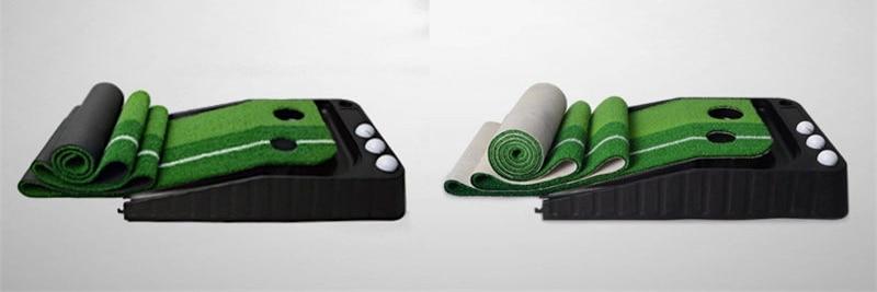 PGM indoor Golf Putter Practice Set Putting Green Trainer Green Mat Automatic Return Fairways Equipment Golf Training Aids (19)