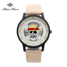 One Piece skeleton dial Design Fashion Pirate Cartoon Watches 2017 FEIFAN Brand personality Watch Women Students Wrist Watch(China)