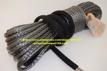 "Grey 3/8""*100ft UHMWPE Winch Rope,ATV Winch Cable,Tow Rope Car,Rope for Electric Winches,Off Road Rope(China)"