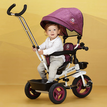 Baby trolley baby bike children tricycle rotating seat with hand push folding bike baby bike child 1-3-5 bike(China)