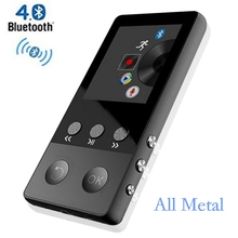 HiFi Metal MP4 Player with Bluetooth 8GB 2.0 Inch Screen Play 80 hours can Support 64GB SD Card with FM Radio Voice Recorder(China)
